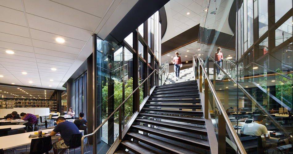 Macquarie University Library designed by fjmt