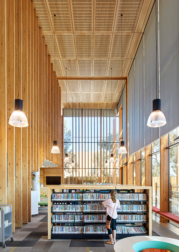 Melton Library designed by fjmt