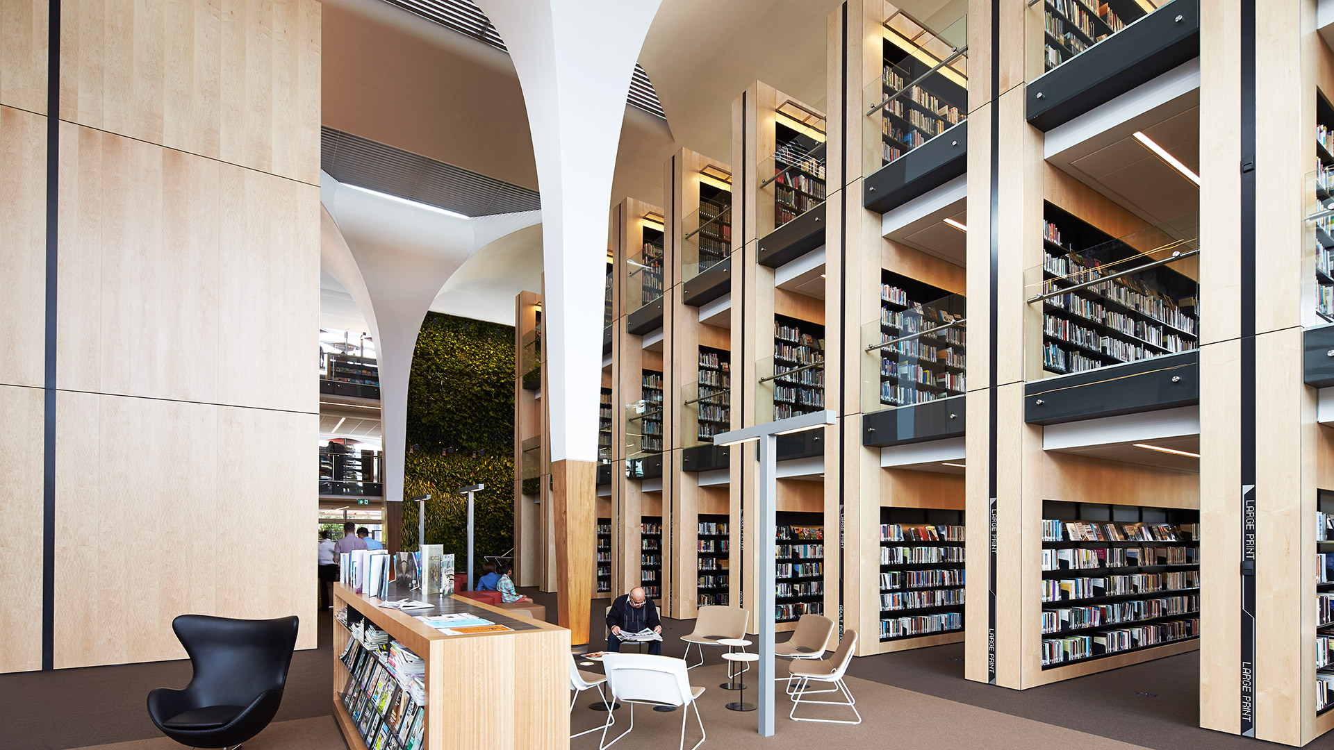 bankstown library interior architecture design fjmt